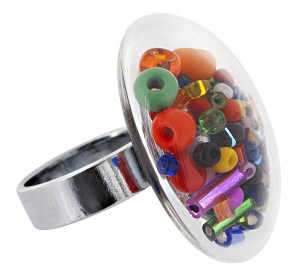 Pylones - Ring - Medium Galet Perles - Perlen Multi