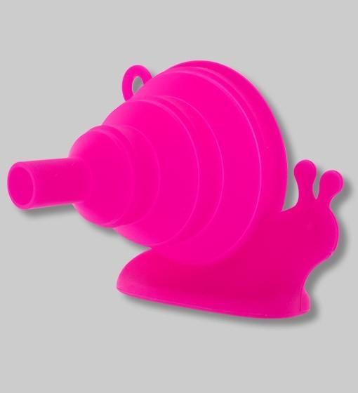 Pylones - Faltbarer Trichter aus Silikon Schnecke Escargot pink