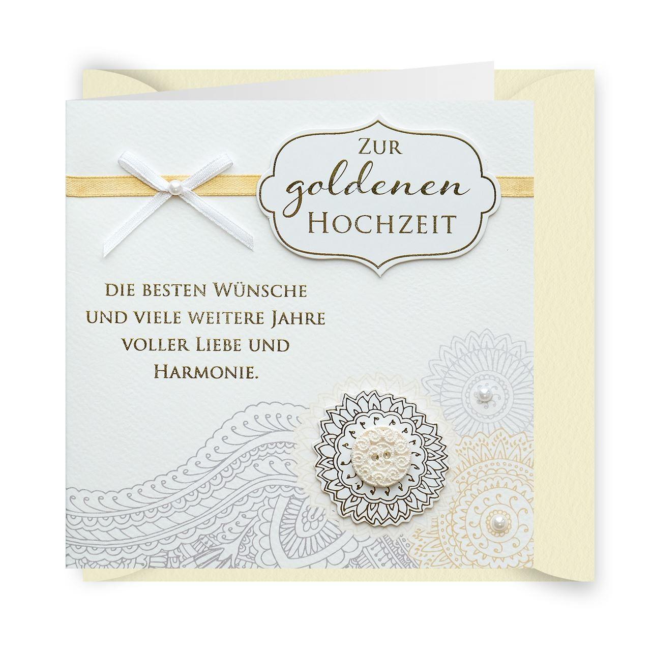 Gruss Und Co Knopfkarte Hochzeit Goldene Hochzeit 50 Jahre