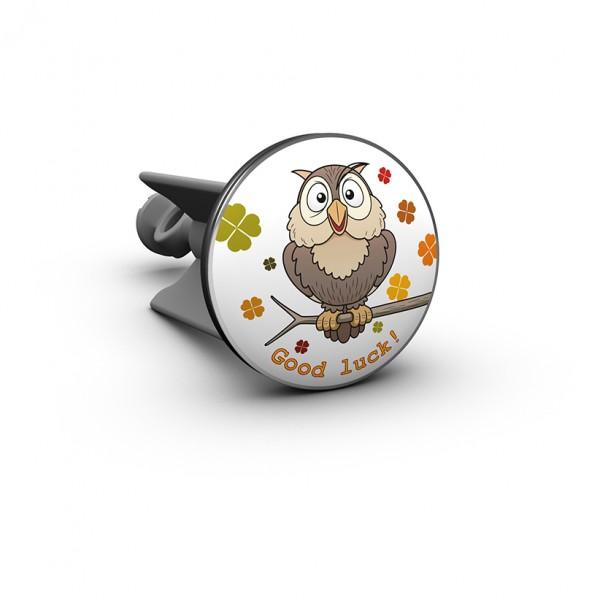 Plopp - Waschbeckenstöpsel - Owl Eule - Good Luck - Viel Glück